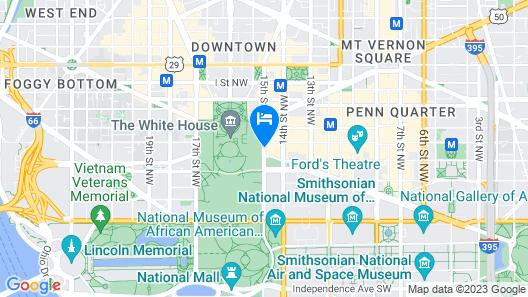 W Washington D.C. Map