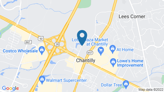 Courtyard by Marriott Washington Dulles Airport Chantilly Map