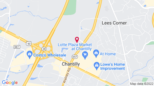 Staybridge Suites Chantilly - Dulles Airport Map