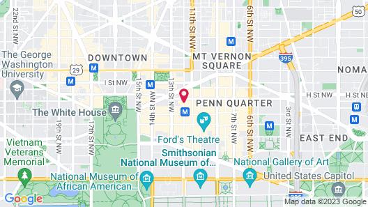 Washington Marriott at Metro Center Map