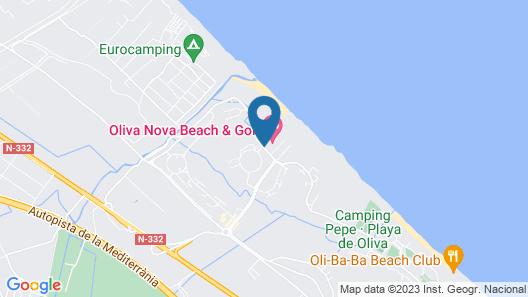 Oliva Nova Golf Beach & Golf Hotel Map