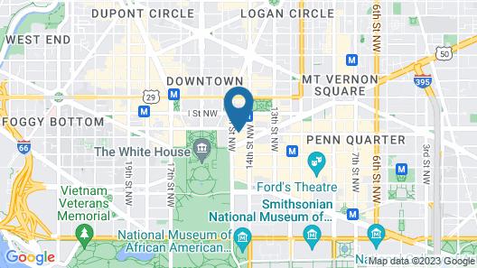 Bluebird Suites DC Financial District Map