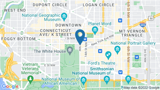 Global Luxury Suites at The White House Map