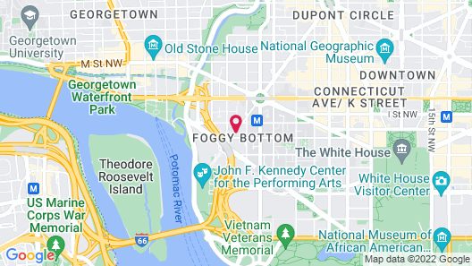 Residence Inn Washington, DC/Foggy Bottom Map