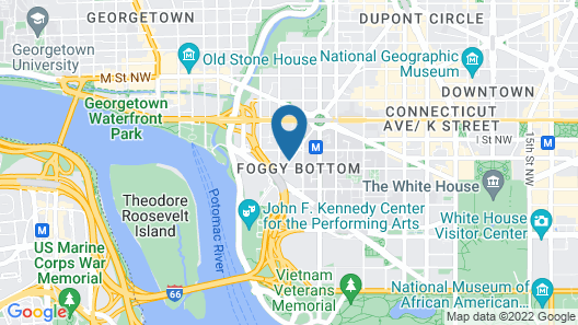 ARC THE.HOTEL, Washington DC Map