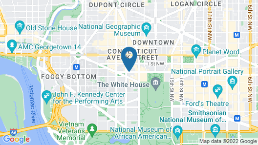 Hampton Inn Washington, D.C./White House Map