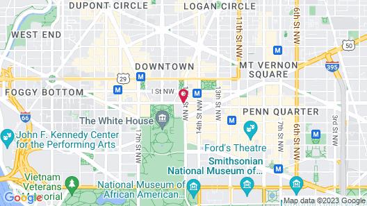 Sofitel Washington DC Lafayette Square Map