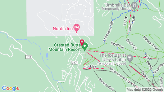 Grand Lodge Crested Butte Map