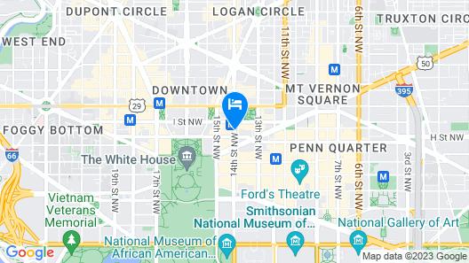 Hilton Garden Inn Washington DC Downtown Map