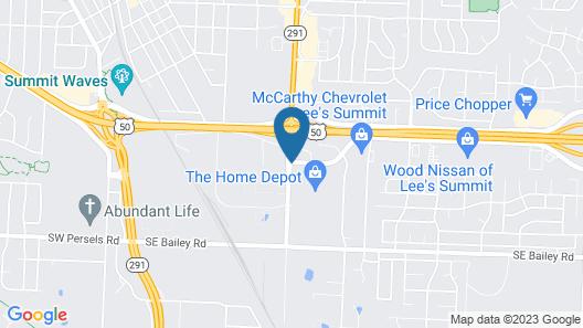 Super 8 by Wyndham Lees Summit Map