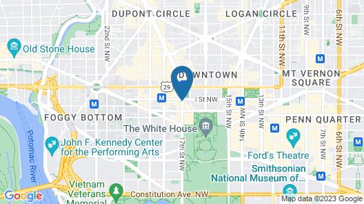 Club Quarters Hotel in Washington DC Map