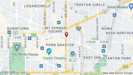 Hampton Inn Washington-Downtown-Convention Center, DC Map