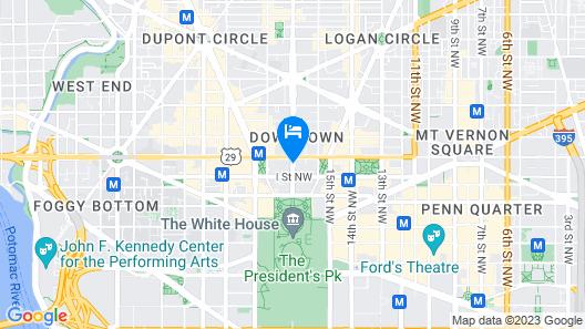 The St. Regis Washington, D.C. Map