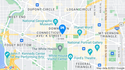 Hyatt Place Washington DC/White House Map