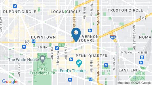 Moxy Washington, DC Downtown Map