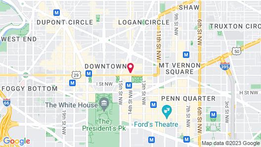 Hamilton Hotel Washington DC Map