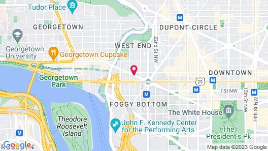Melrose Georgetown Hotel Map