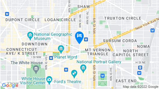 Courtyard by Marriott Washington Downtown/Convention Center Map