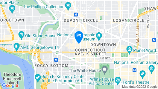 AC Hotel by Marriott Washington DC Downtown Map