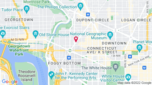 West End Washington DC, Tapestry Collection by Hilton Map
