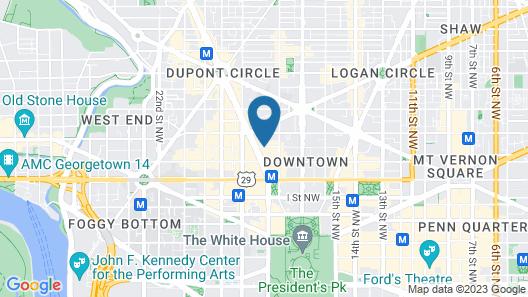 Marriott Vacation Club Pulse at The Mayflower, Washington DC Map