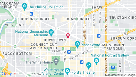 Residence Inn by Marriott Washington, DC Downtown Map