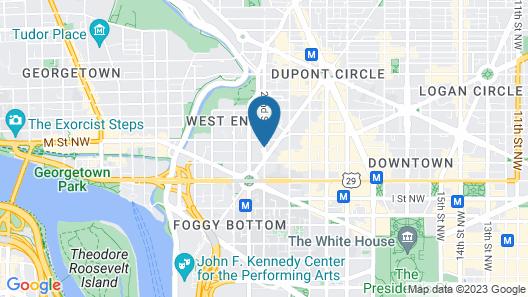 The Ritz-Carlton, Washington, D.C. Map