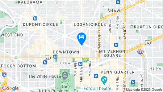 Hotel Zena, a Viceroy Urban Retreat Map