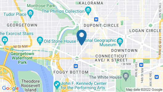 Hyatt Place Washington DC/Georgetown/West End Map