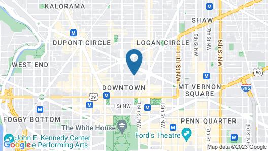 The Madison Washington DC, A Hilton Hotel Map