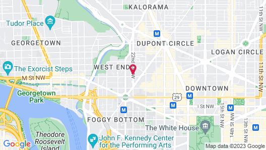 Hilton Garden Inn Washington DC/Georgetown Area Map