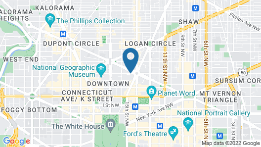 The Westin Washington, D.C. City Center Map