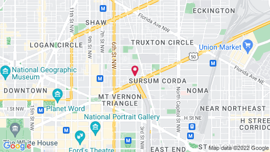 Mt Vernon Square Bed and Breakfast Map