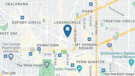 Fully Furnished Apartment in Washington near Logan Circle Map
