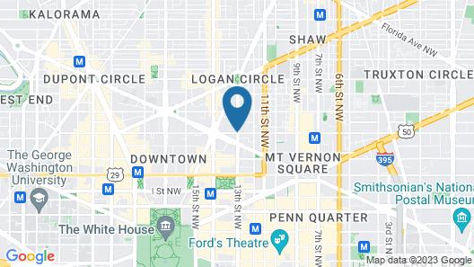 Comfort Inn Downtown DC/Convention Center Map
