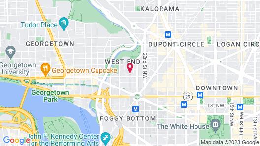 Fairmont Washington, D.C., Georgetown Map