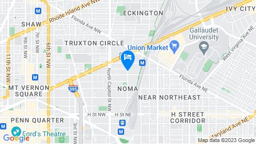 Hilton Garden Inn Washington DC/US Capitol Map