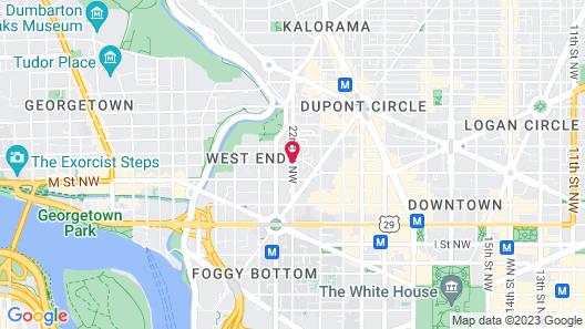 Washington Marriott Georgetown Map