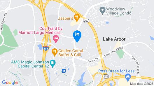 Staybridge Suites Washington DC East - Largo Map