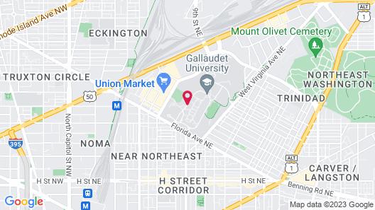 Kellogg Conference Hotel at Gallaudet University Map