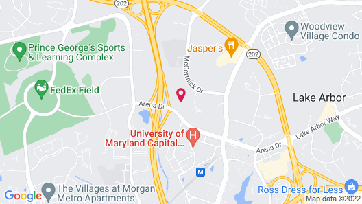 Courtyard by Marriott Largo Capital Beltway Map