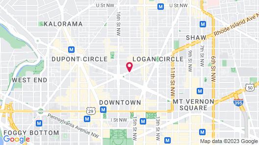 Holiday Inn Washington-Central/White House, an IHG Hotel Map