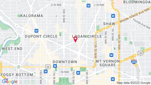 Viceroy Washington DC Map