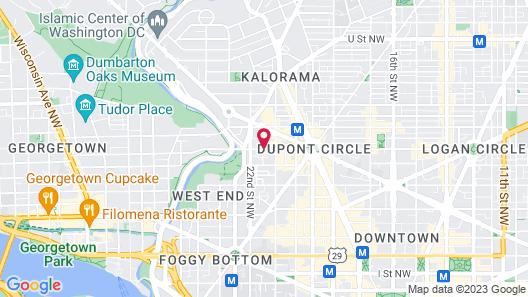 Residence Inn by Marriott Washington, DC/Dupont Circle Map