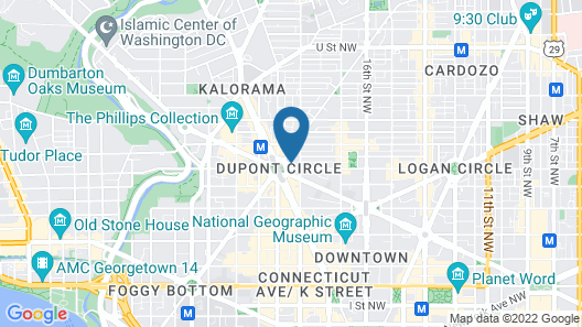 Oakwood Suites & Studios Dupont Circle Washington DC Map