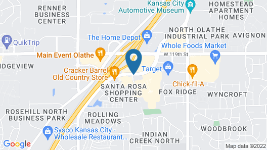 Hampton Inn Olathe Map