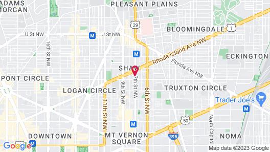 DC International Hostel 1 Map
