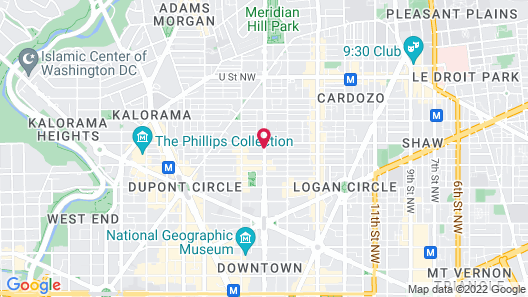 Dupont Circle Embassy Inn by FOUND Map