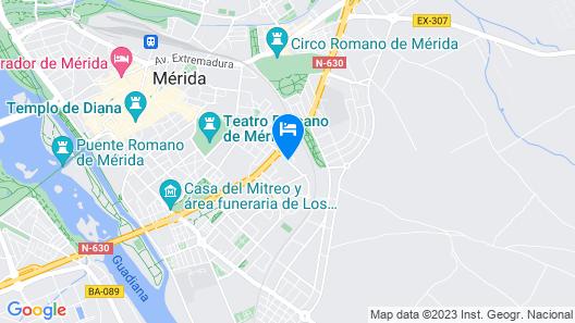 Hotel Velada Mérida Map