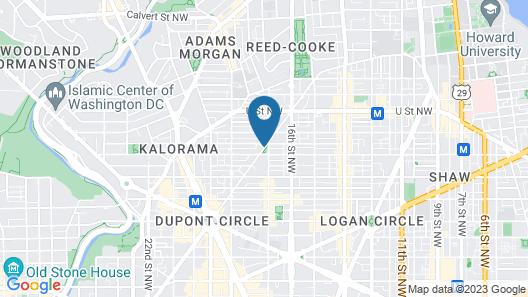 Swann House Historic Dupont Circle Inn Map